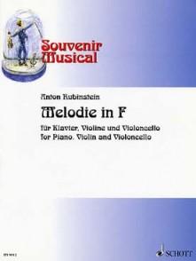 RUBINSTEIN A. MELODIE IN F PIANO, VIOLON ET VIOLONCELLE