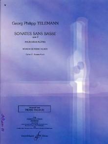 TELEMANN G.P. SONATES SANS BASSE OP 2 CAHIER 2 2 FLUTES OU VIOLONS