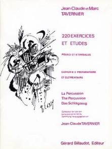 TAVERNIER J.C. EXERCICES ET ETUDES CAHIER 2 3 OU 4 TIMBALES