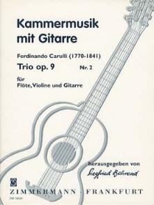 CARULLI F. TRIO OP 9 N°2 FLUTE, VIOLON ET GUITARE
