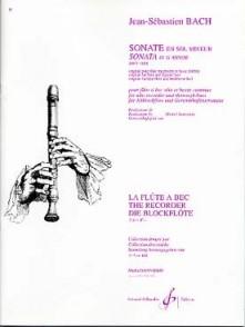 BACH J.S. SONATE BWV 1034 FLUTE A BEC ALTO