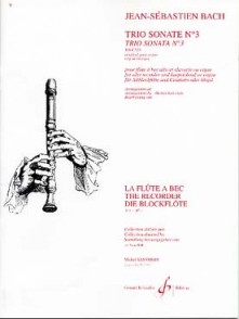BACH J.S. TRIO SONATE N°3 FLUTE A BEC ALTO