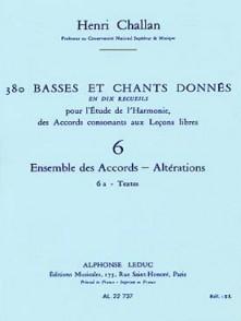 CHALLAN H. 380 BASSES ET CHANTS DONNES VOL 06A