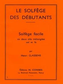 CLASSENS H. LE SOLFEGE DES DEBUTANTS 2 CLES
