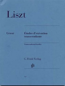 LISZT F. ETUDES D'EXECUTION TRANSCENDANTE PIANO