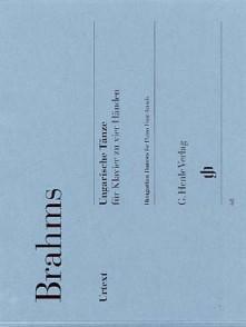 BRAHMS J. DANSES HONGROISES PIANO 4 MAINS