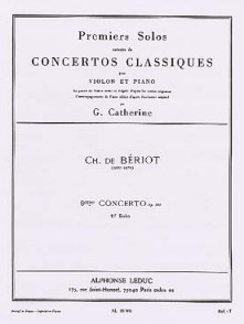 BERIOT CH. 9ME CONCERTO EN LA MINEUR VIOLON
