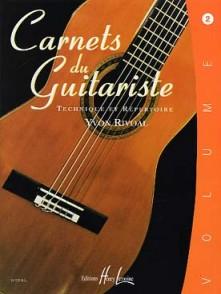 RIVOAL Y. CARNETS DU GUITARISTE VOL 2 GUITARE