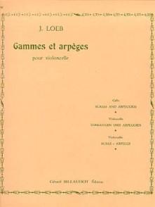 LOEB J. GAMMES ET ARPEGES VIOLONCELLE