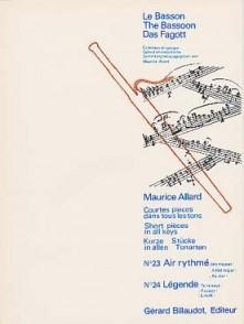 ALLARD M. COURTES PIECES N°23 ET N°24 BASSON