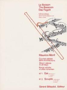 ALLARD M. COURTES PIECES N°1 ET N°2 BASSON