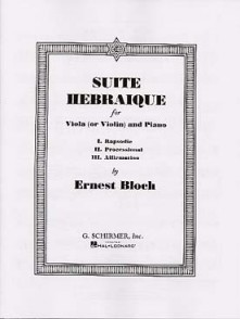 BLOCH E. SUITE HEBRAIQUE ALTO