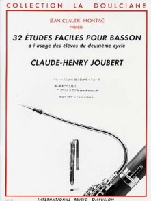 JOUBERT C.H. 32 ETUDES FACILES BASSON