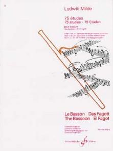 MILDE L. 75 ETUDES OP 24 VOL 1 BASSON