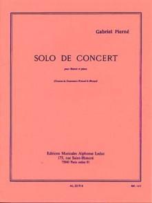 PIERNE G. SOLO DE CONCERT BASSON