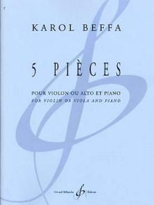 BEFFA K. PIECES VIOLON OU ALTO