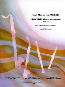 WEBER C.M. CONCERTINO MIB MAJEUR OP 26 CLARINETTE