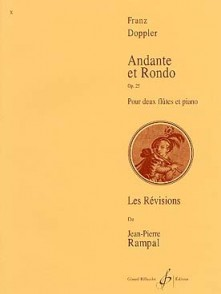 DOPPLER F. ANDANTE ET RONDO OP 25 2 FLUTES