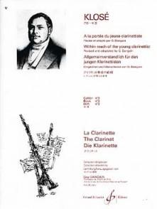KLOSE H.E. A LA PORTEE DU JEUNE CLARINETTISTE VOL 3 CLARINETTE