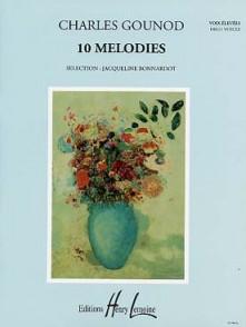 GOUNOD C. 10 MELODIES VOIX ELEVEES