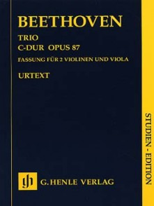 BEETHOVEN L. TRIO DO MAJEUR OP 87 SCORE