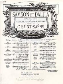 SAINT-SAENS C. SAMSON ET DALILA N°9 CHANT