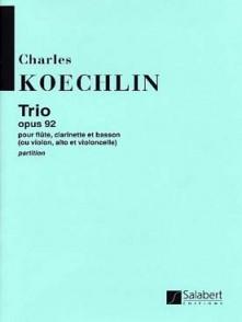 KOECHLIN C. TRIO OP 92 FLUTE CLARINETTE BASSON