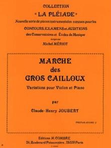 JOUBERT C.H. MARCHE DES GROS CAILLOUX VIOLON