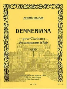 BLOCH A. DENNERIANA CLARINETTE