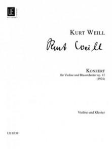 WEILL K. KONZERT OP 12 VIOLON