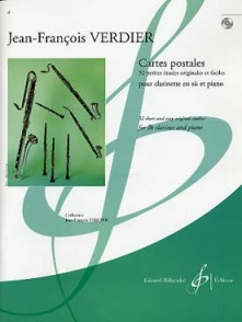 VERDIER J.F. CARTES POSTALES CLARINETTE