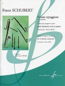 SCHUBERT F. SONATE ARPEGGIONE CLARINETTE LA