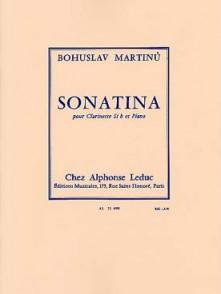 MARTINU B. SONATINA CLARINETTE