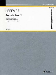 LEFEVRE X. 1RE SONATE CLARINETTE