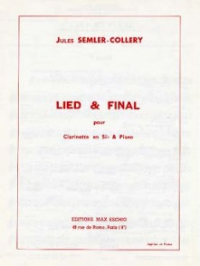 SEMLER-COLLERY J. LIED & FINAL CLARINETTE