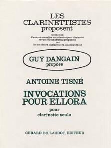 TISNE A. INVOCATION POUR ELLORA CLARINETTE