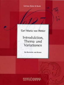 WEBER C.M. INTRODUCTION, THEME ET VARIATIONS CLARINETTE