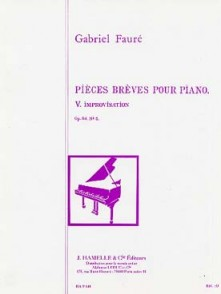 FAURE G. IMPROVISATION OP 84 N°5 PIANO