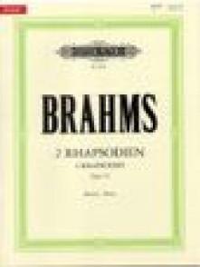 BRAHMS J. RHAPSODIES OP 79 PIANO