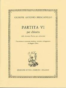 BRESCIANELLO G.A. PARTITA N°6 GUITARE