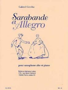 GROVLEZ G. SARABANDE ET ALLEGRO SAXO ALTO
