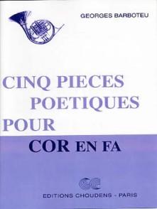 BARBOTEU G. PIECES POETIQUES COR