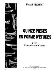 PROUST P. PIECES EN FORME D'ETUDES TROMPETTE