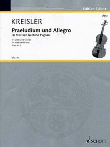 KREISLER F. PRELUDE ET ALLEGRO ALTO