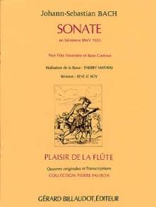 BACH J.S. SONATE SOL MINEUR FLUTE
