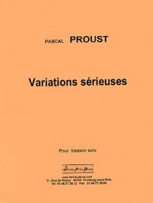 PROUST P. VARIATIONS SERIEUSES BASSON