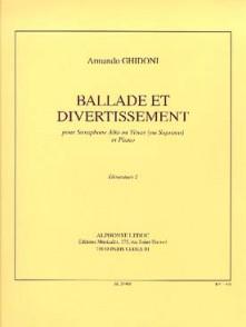 GHIDONI A. BALLADE ET DIVERTISSEMENT SAXO MIB OU SIB