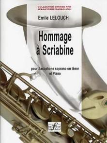 LELOUCH E. HOMMAGE A SCRIABINE SAXO SIB