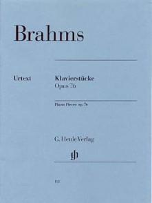 BRAHMS J. KLAVIERSTUCKE OPUS 76 PIANO