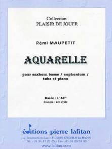 MAUPETIT R. AQUARELLE TUBA OU EUPHONIUM OU SAXHORN